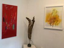 V. L.: Buonconvento, Felicita (Strandgut, Figur Bronze, Lichtobjekt), Finitezza