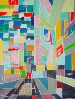 """Heinz Morstadt zeigt sein Werk """"New York - City Mosaik"""""""