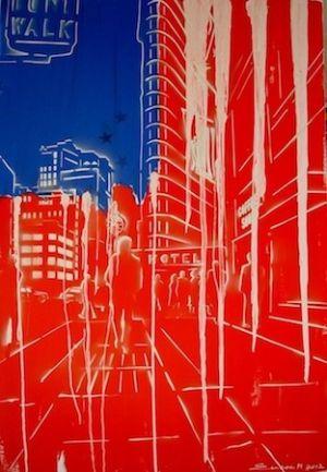 """Heinz Morstadt zeigt sein Werk """"New York - Stars und Stripes"""""""