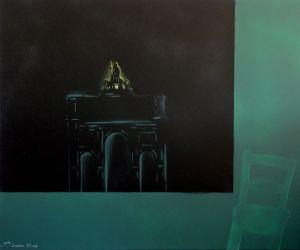 """Heinz Morstadt zeigt sein Werk """"Leopoldstraße Nr. 1  (100x120)"""""""